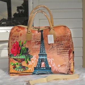 Handbags - Paris Theme Travel Bag #1